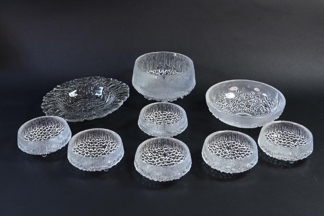 SCANDINAVIAN ICE GLASS GROUPING