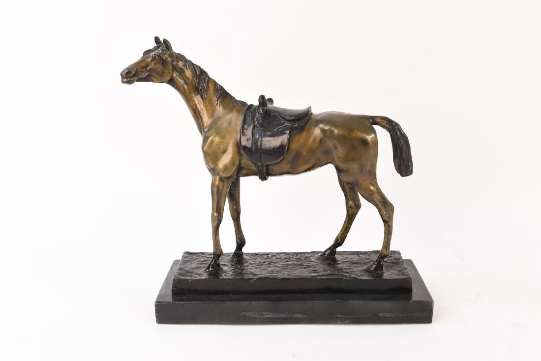 J. MOIGNIEZ BRONZE HORSE