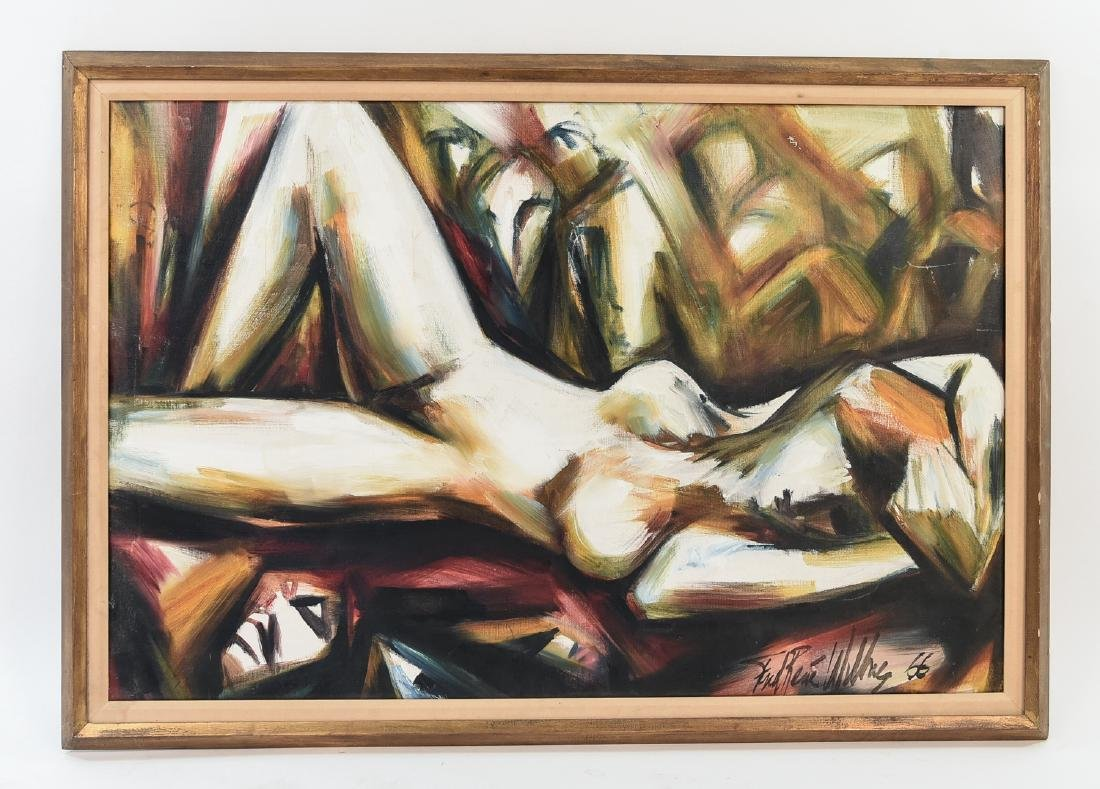 1966 O/C ABSTACT NUDE PAINTING
