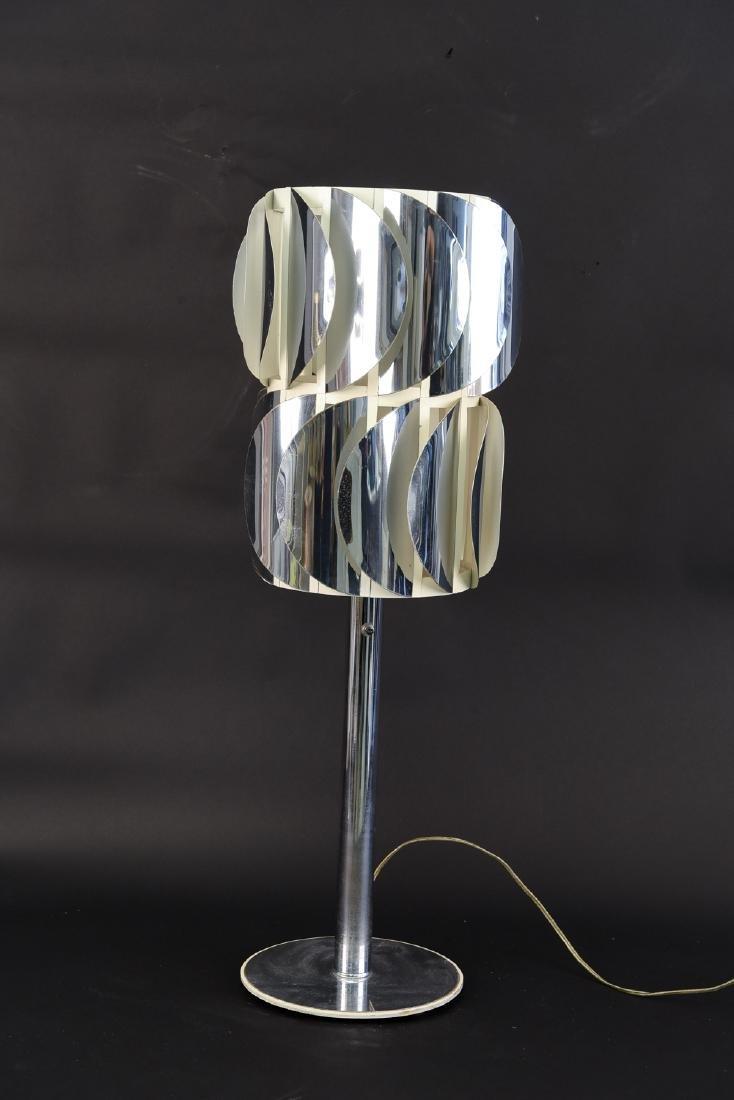 1970'S MODERN CHROME TURBINE LAMP