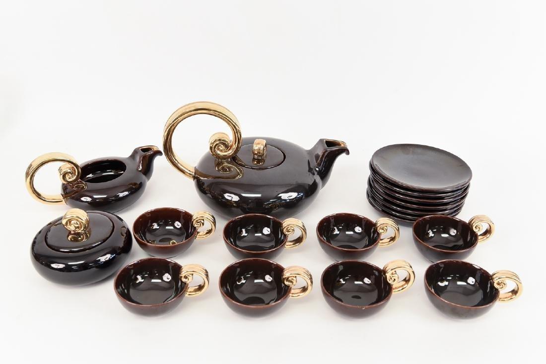 LOUIS GERARD PORCELAIN TEA SERVICE FOR 6