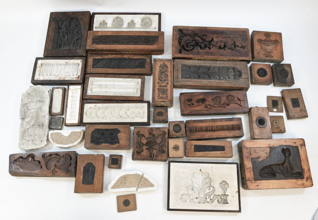 LARGE GROUPING OF ARCHITECTURAL MOLDS