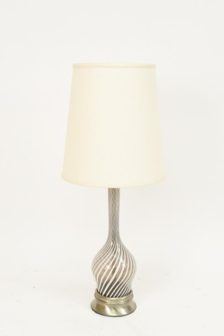 DINO MARTENS MEZZA FILIGRANA MURANO GLASS LAMP