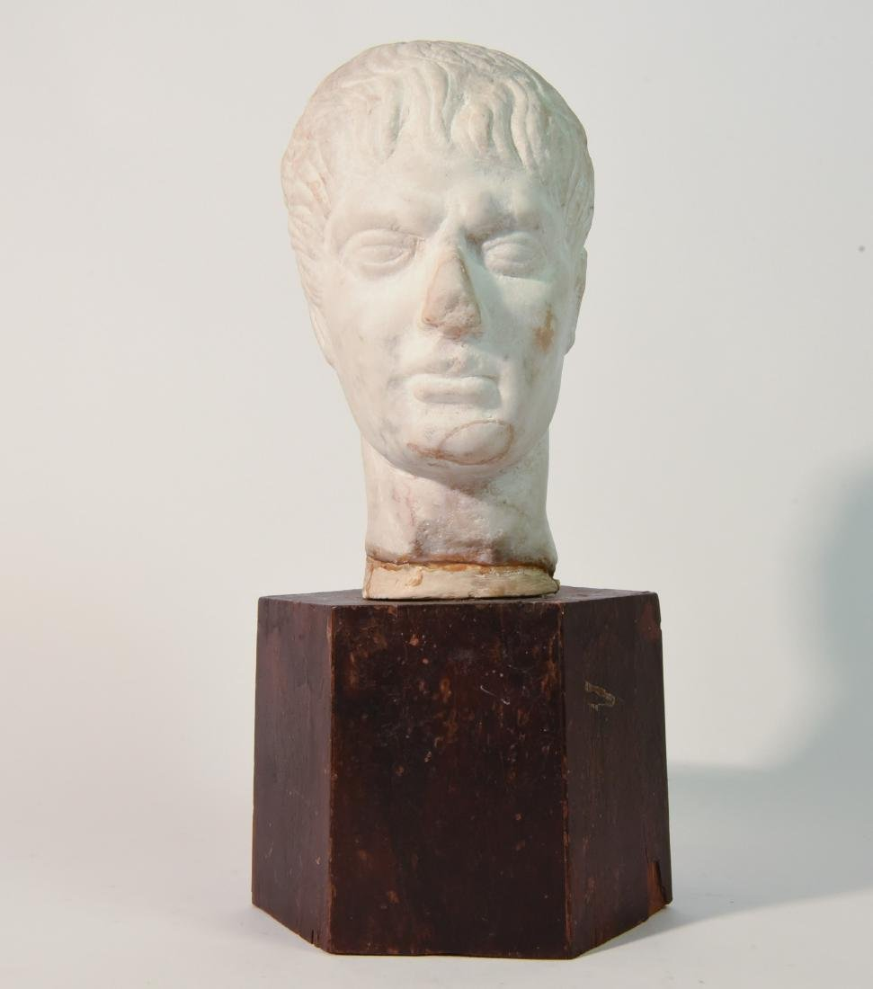 ANCIENT ROMAN CARVED HEAD OF A BOY