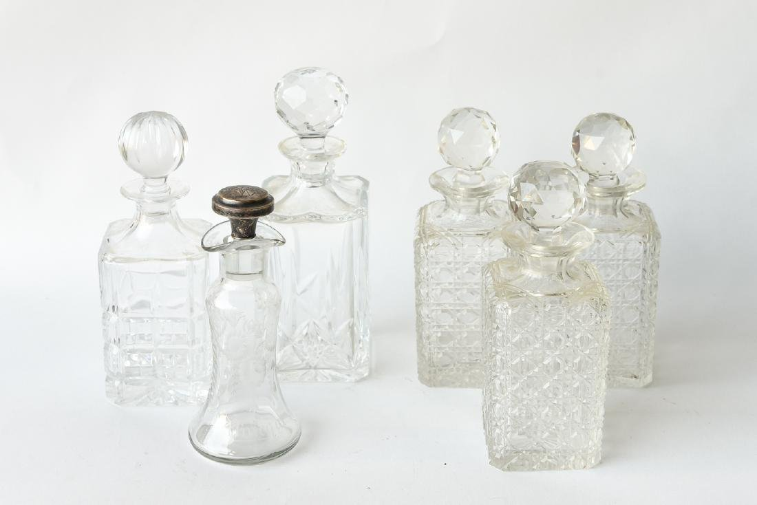 (6) GROUPING OF CRYSTAL DECANTERS