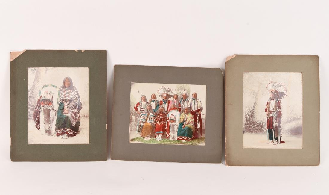 1898 HAND COLORED NATIVE AMERICAN PHOTOGRAPHS