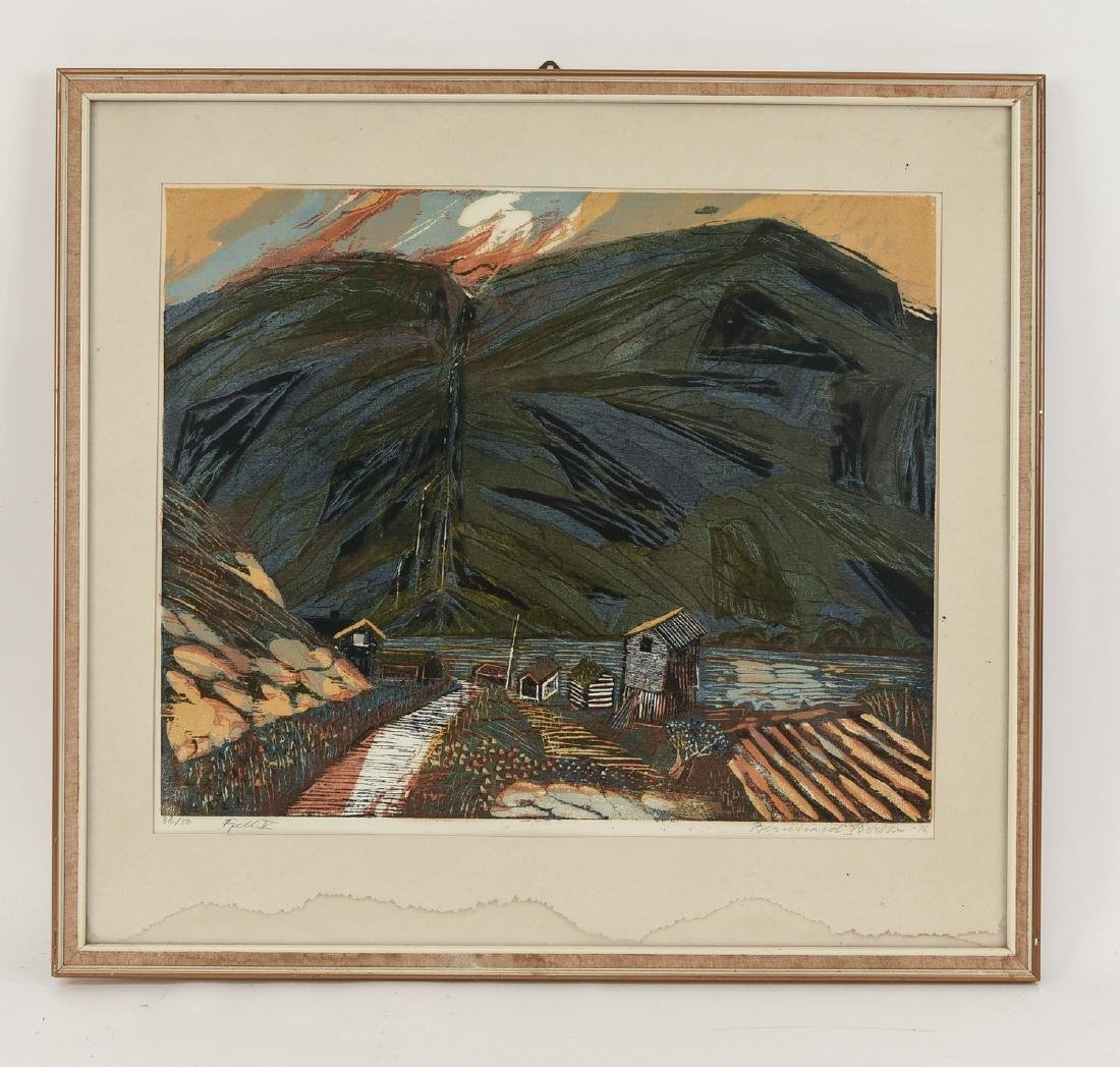 BERNHARD BERBOM (NORWAY 1921-2001) LANDSCAPE PRINT