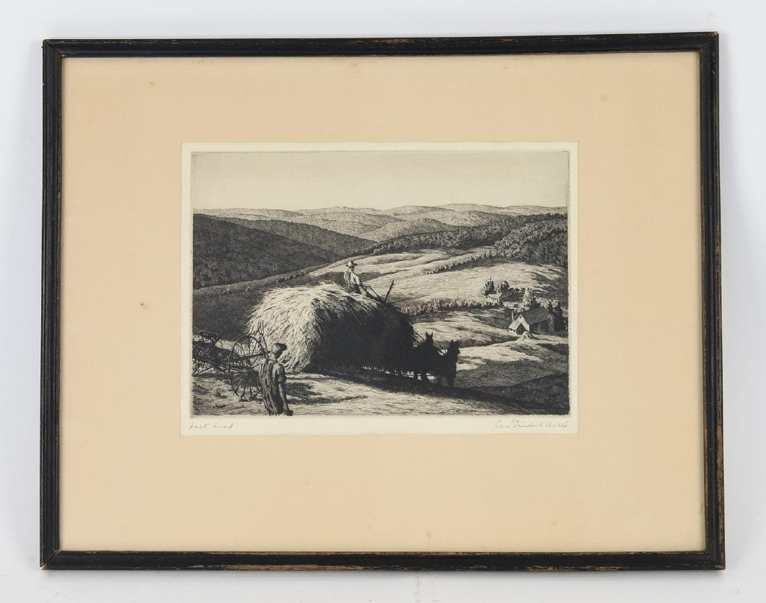 ALICE STANDISH BUELL ETCHING