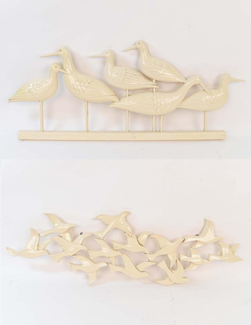 (2) MID-CENTURY SYROCO WALL SCULPTURES