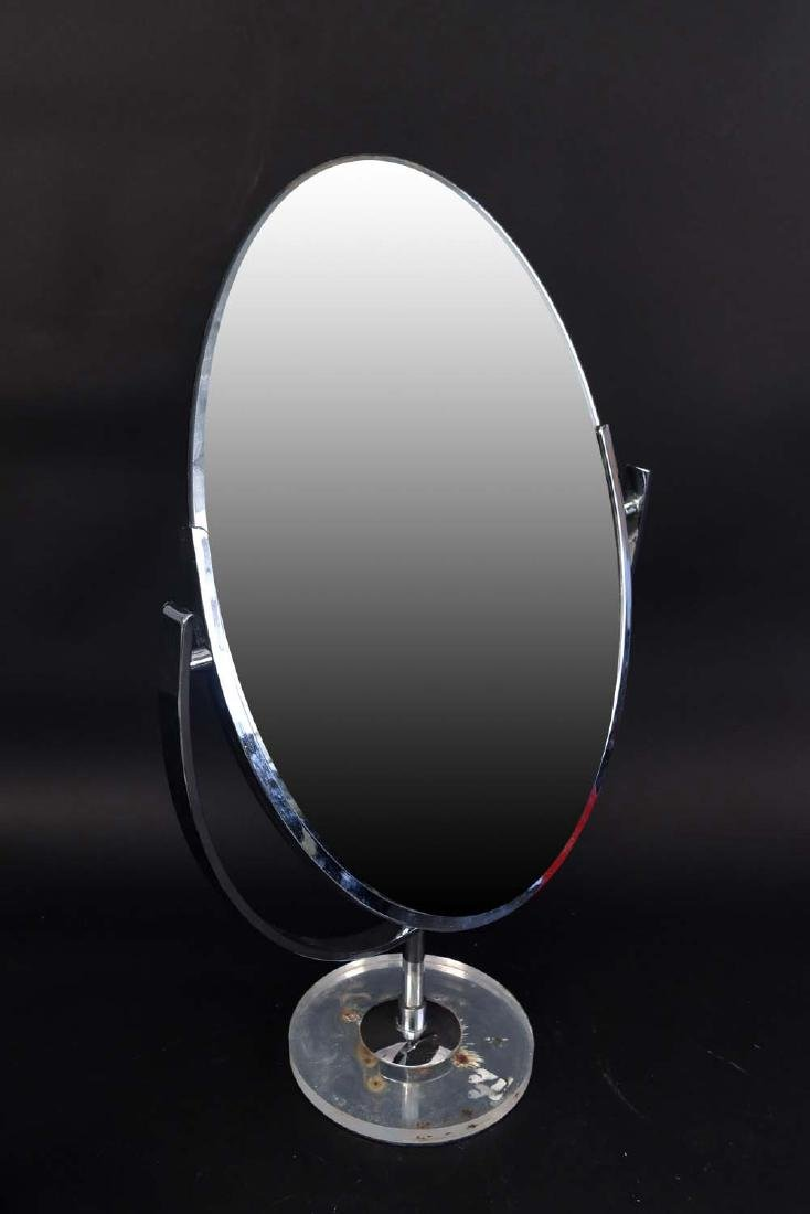 CHROME & ACRYLIC SHAVING MIRROR