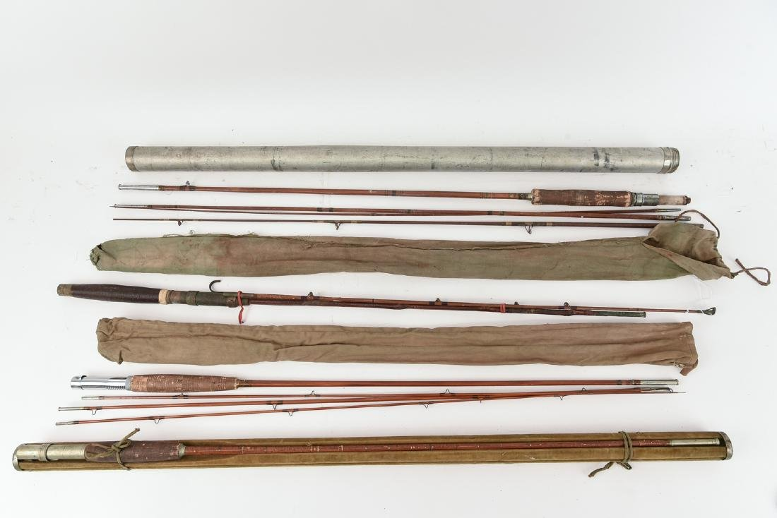 (4) VINTAGE FLY FISHING RODS