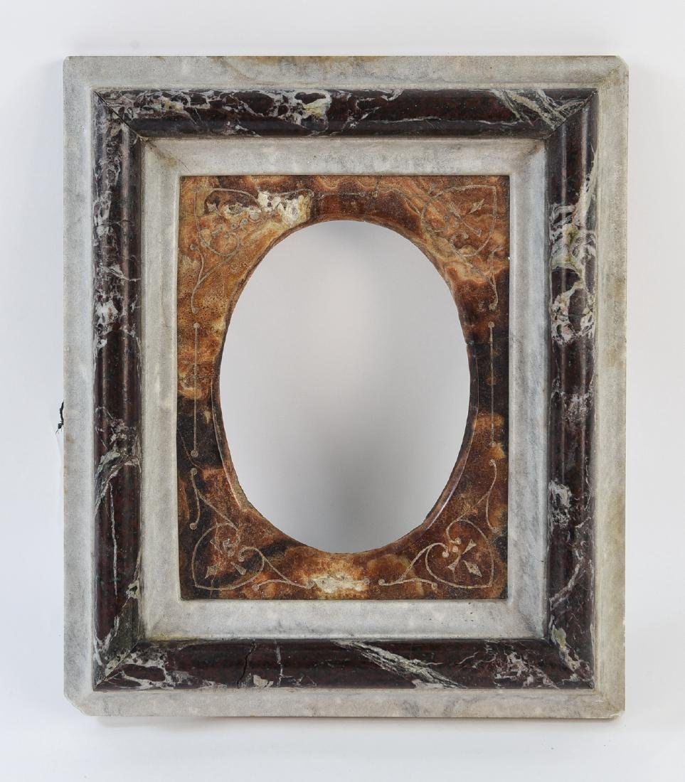 19TH C. VICTORIAN MARBLE PICTURE FRAME