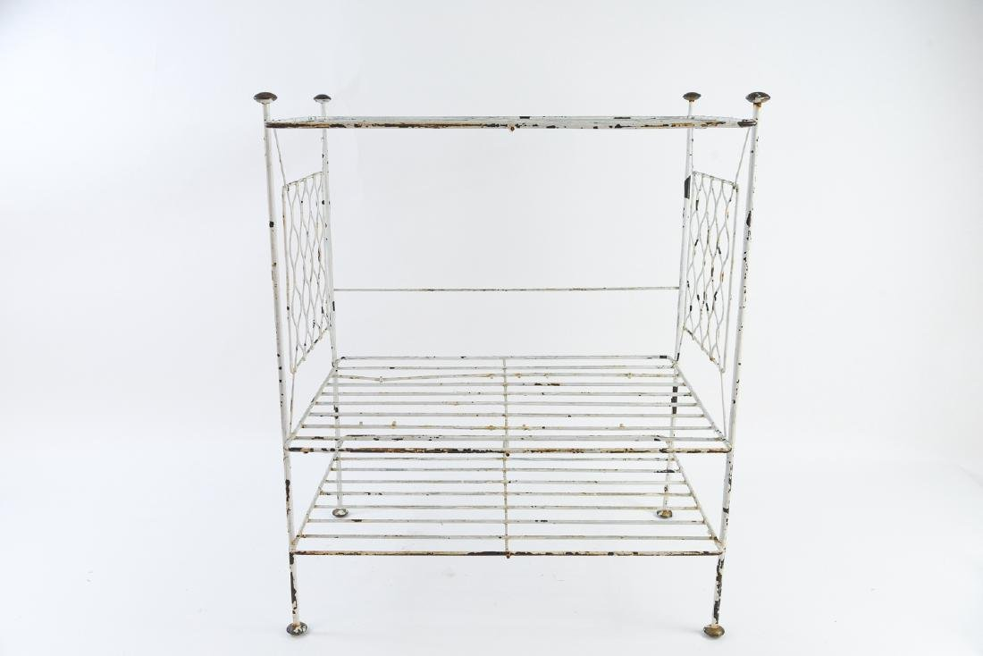MID-CENTURY IRON SHELF SIDE TABLE