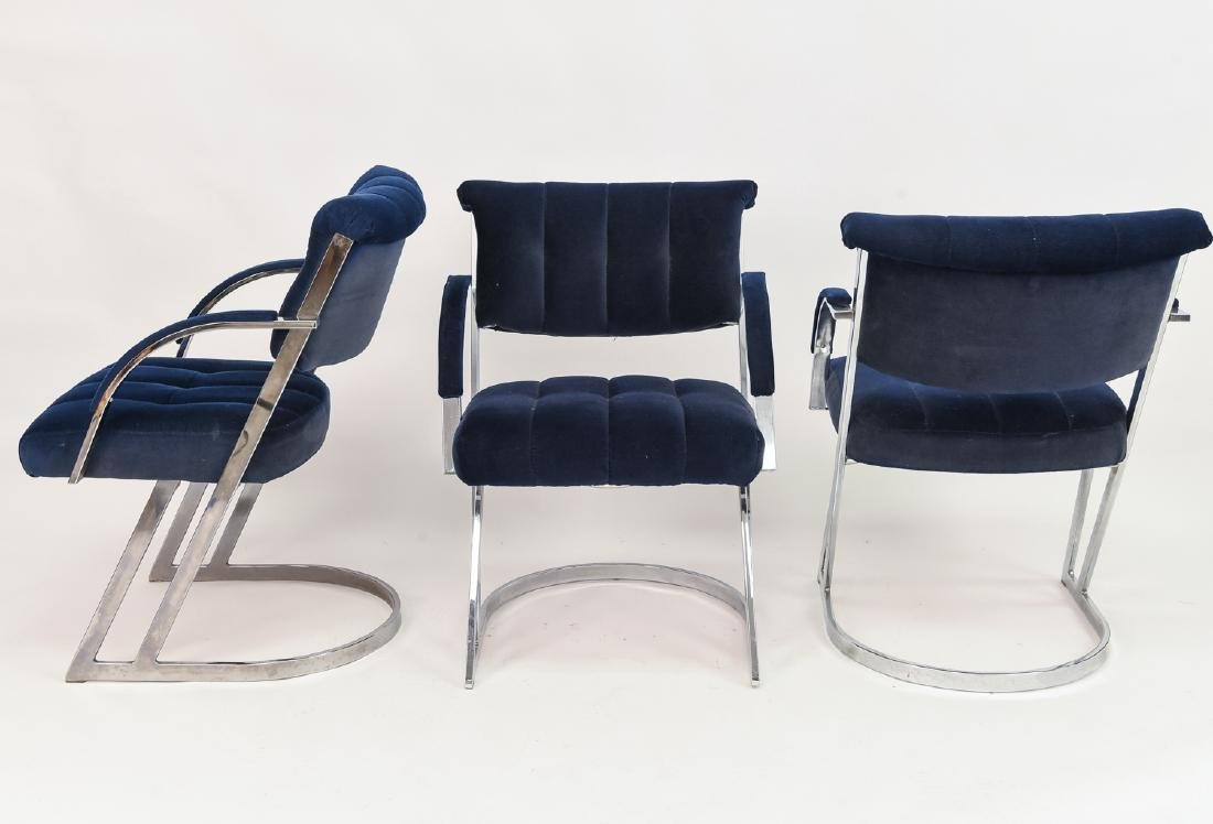 (3) CAL-STYLE MILO BAUGHMAN STYLE CHAIRS