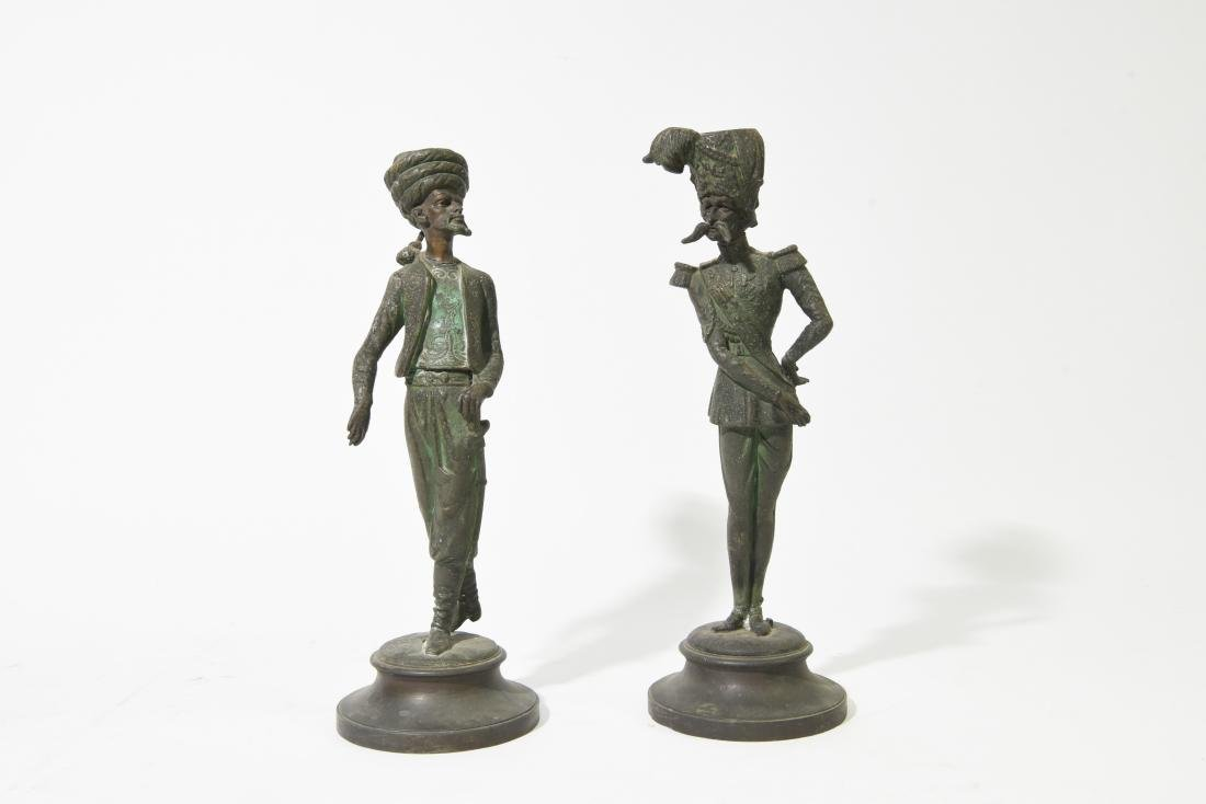 PAIR OF FRENCH FIGURAL MILITARY CANDLESTICKS