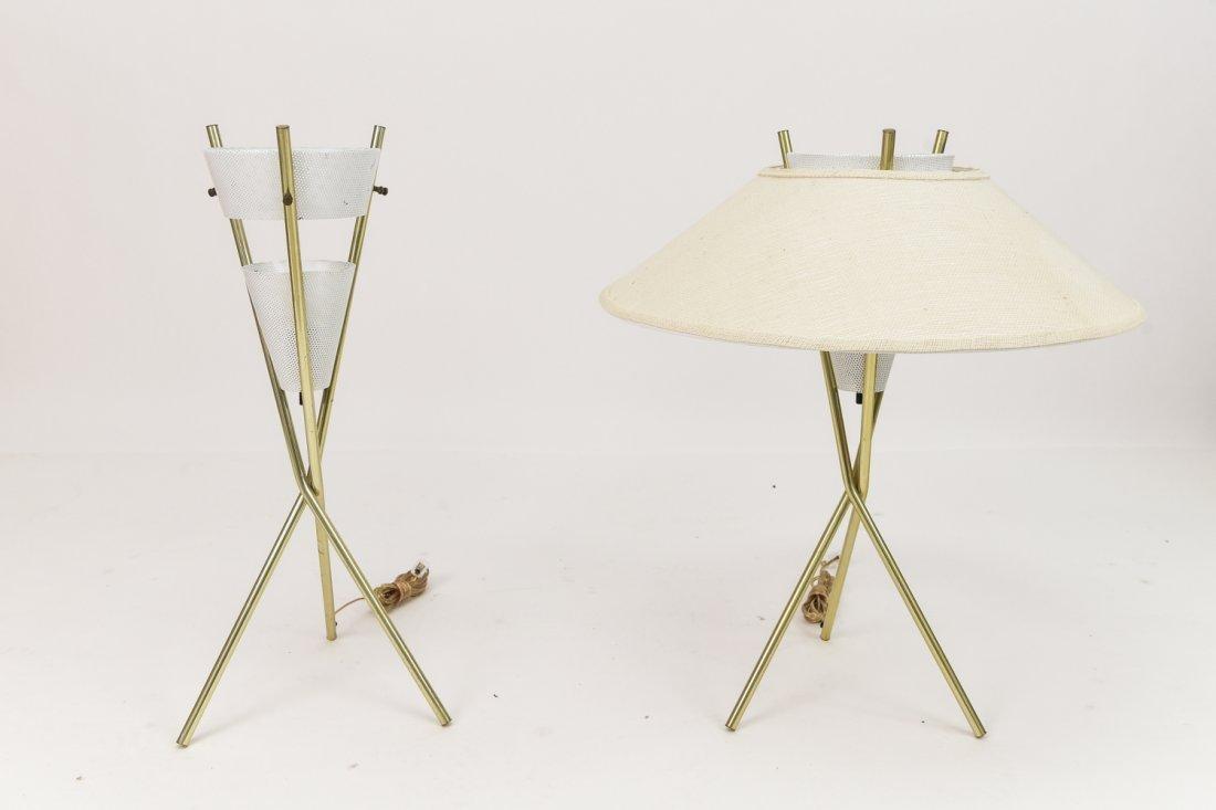 PAIR OF GERALD THURSTON 3 ARM LAMPS