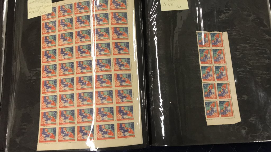 CHINESE POSTAL POSTAGE STAMP COLLECTION BOOK - 9