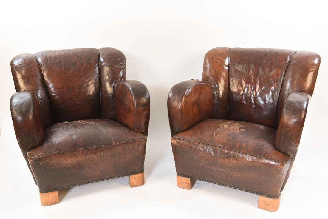 PAIR OF MARTHA BLOMSTEDT STYLE ART DECO ARMCHAIRS