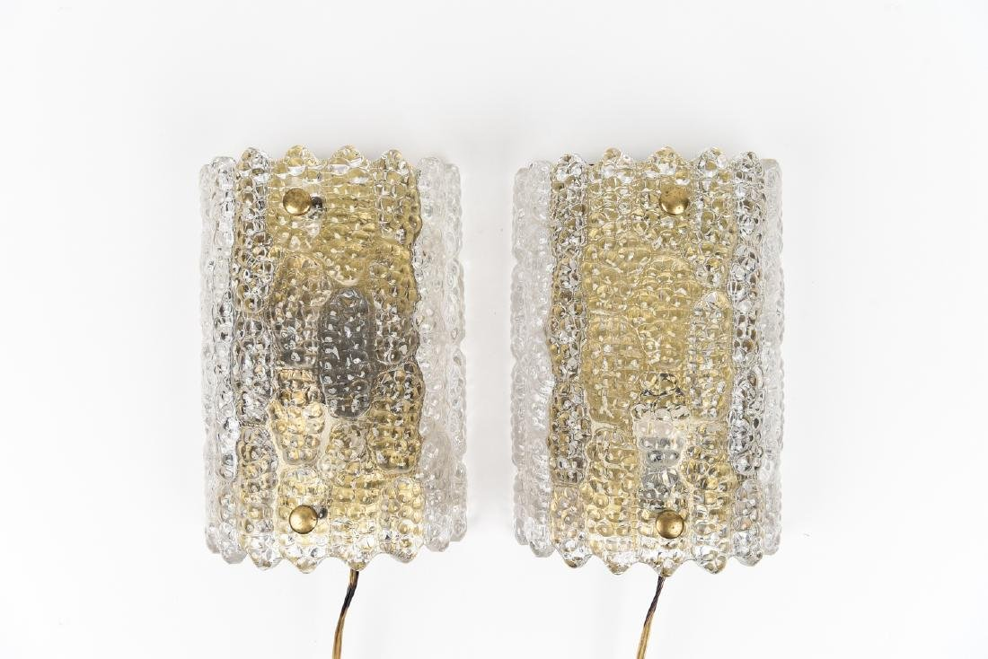 PAIR OF CARL FAGERLUND FOR ORREFORS SCONCES