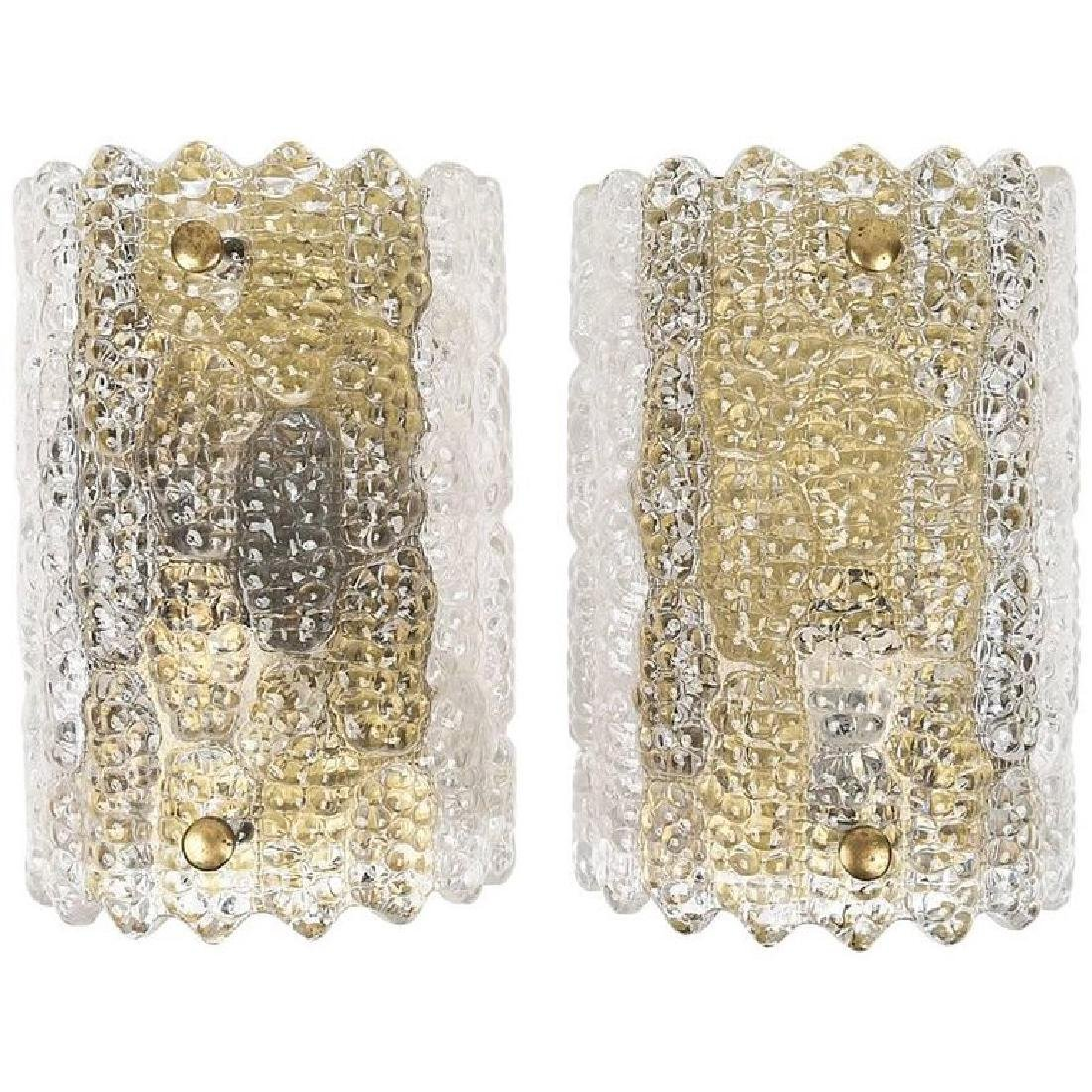 PAIR OF CARL FAGERLUND FOR ORREFORS SCONCES - 2