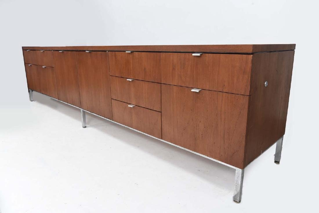 RARE 9' FT FLORENCE KNOLL MID-CENTURY SIDEBOARD