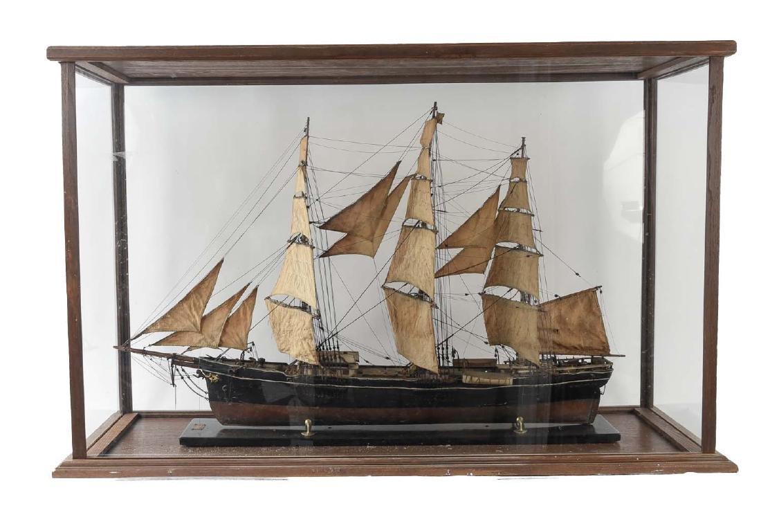ANTIQUE MODEL CLIPPER SHIP