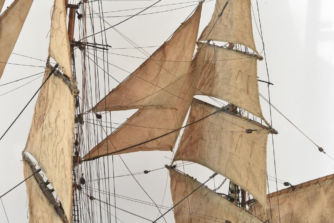 ANTIQUE MODEL CLIPPER SHIP - 2
