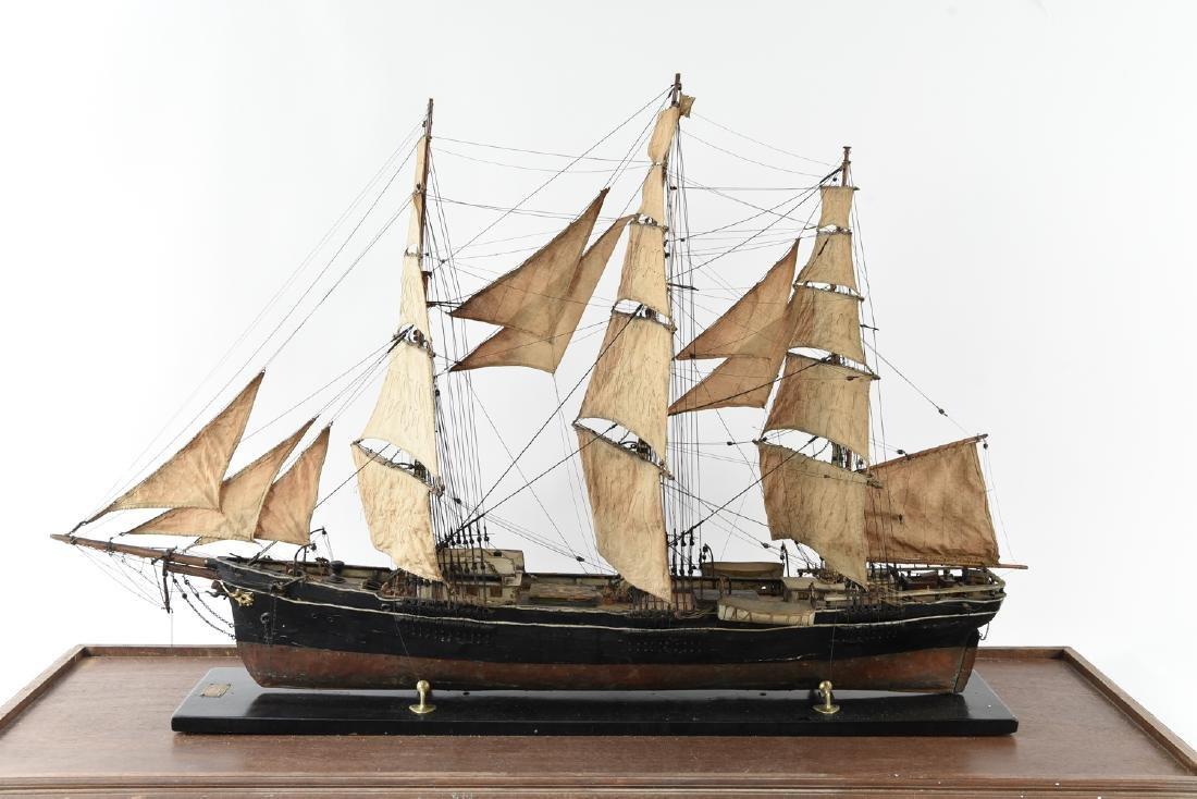 ANTIQUE MODEL CLIPPER SHIP - 3