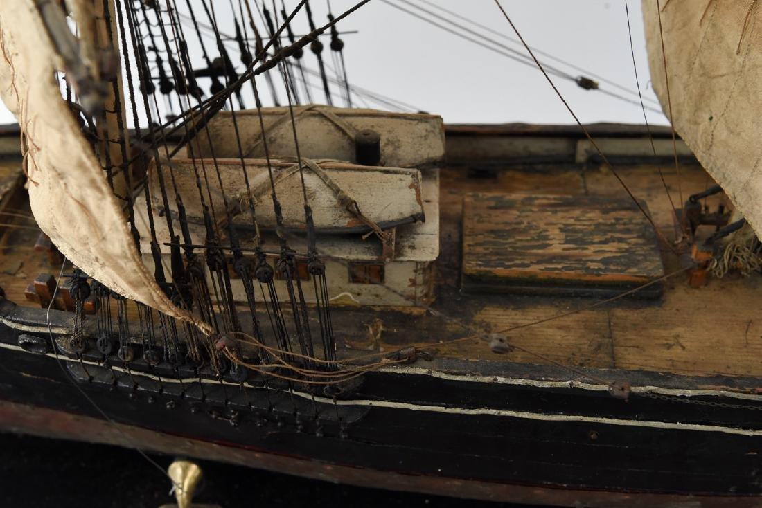 ANTIQUE MODEL CLIPPER SHIP - 4
