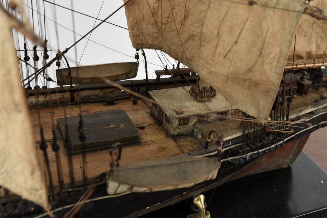 ANTIQUE MODEL CLIPPER SHIP - 5