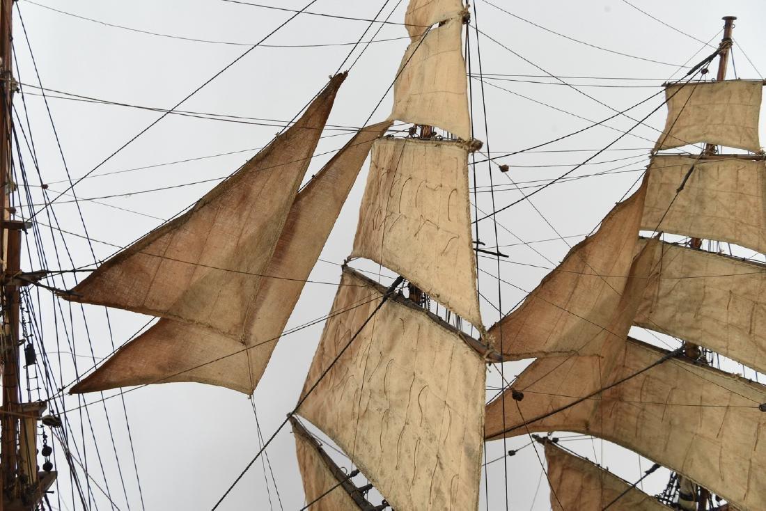 ANTIQUE MODEL CLIPPER SHIP - 6