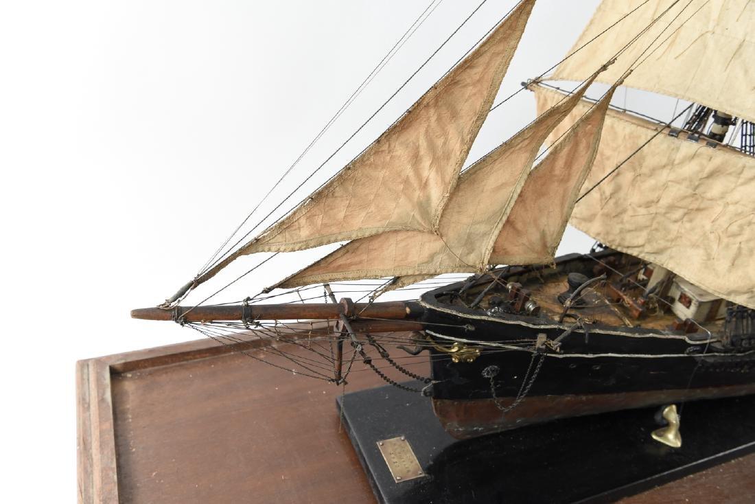 ANTIQUE MODEL CLIPPER SHIP - 7