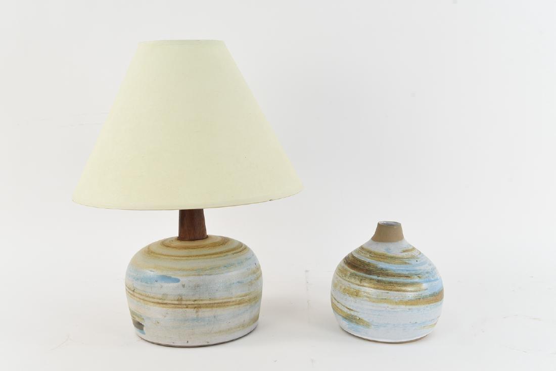 MARSHALL STUDIOS MARTZ POTTERY LAMP & VASE