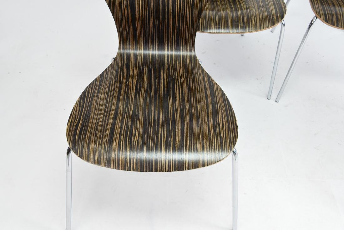 (4) KNOLL STACKING ROSEWOOD CHAIRS - 2
