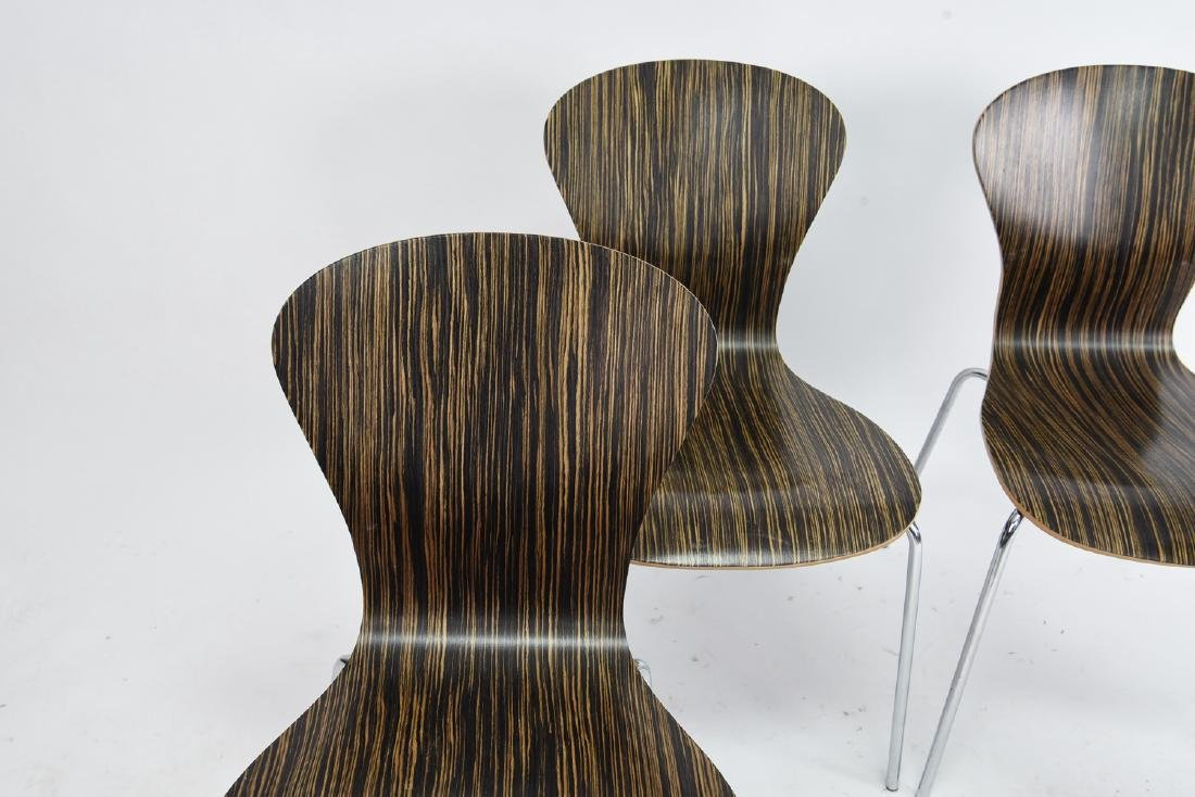 (4) KNOLL STACKING ROSEWOOD CHAIRS - 3