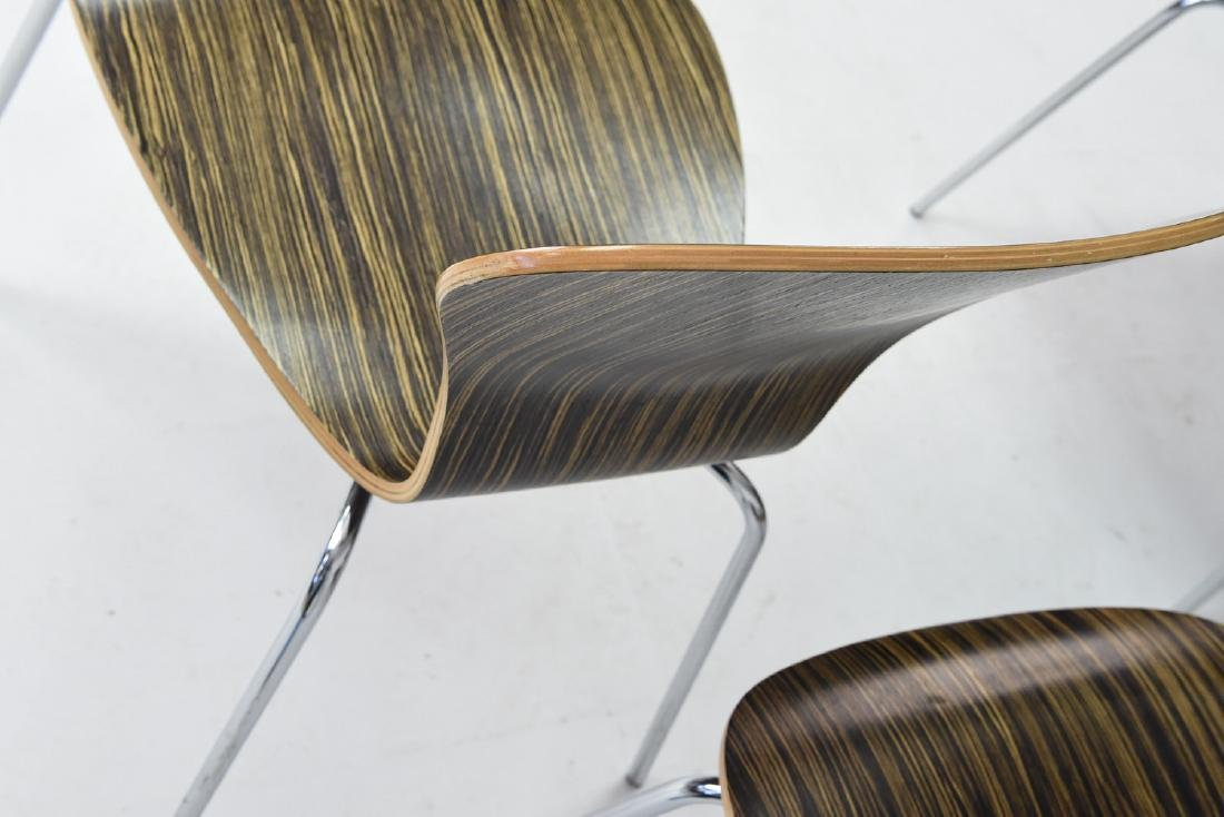 (4) KNOLL STACKING ROSEWOOD CHAIRS - 7