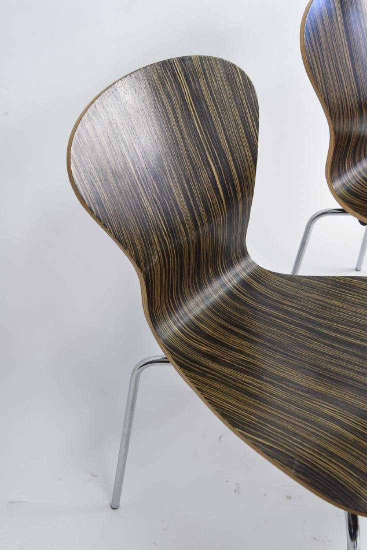 (4) KNOLL STACKING ROSEWOOD CHAIRS - 9