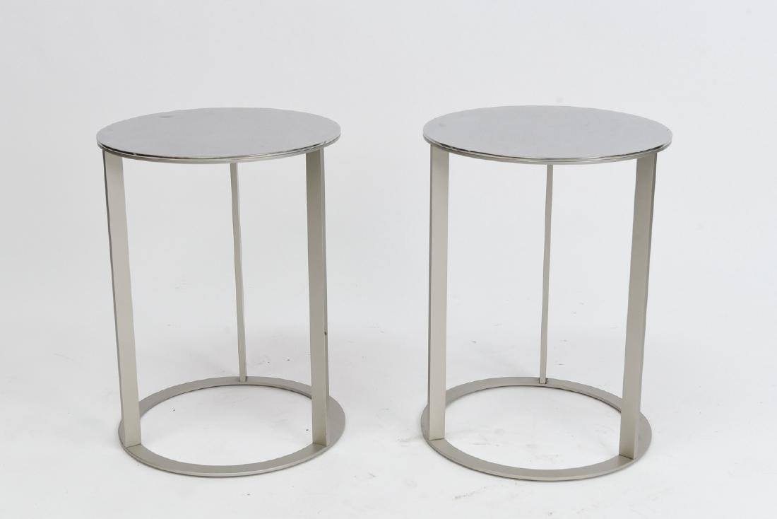 PAIR ANTONIO CITTERIO FOR B&B ITALIA SIDE TABLES