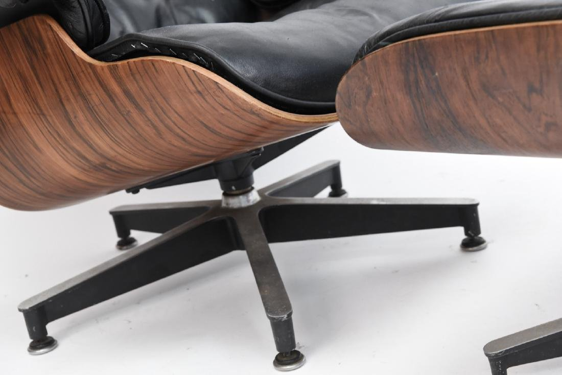 HERMAN MILLER EAMES LOUNGE AND OTTOMAN - 7
