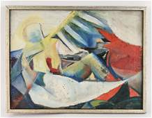 MID-CENTURY FIGURATIVE ABSTRACT PAINTING