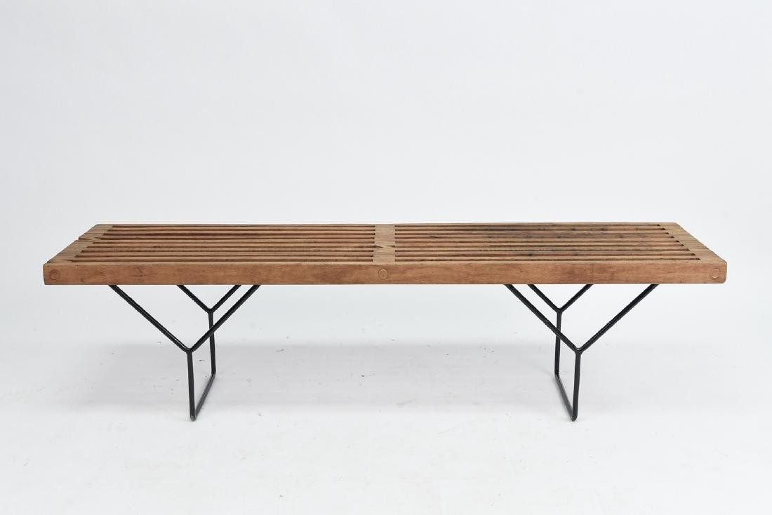 HARRY BERTOIA SLAT BENCH BY KNOLL