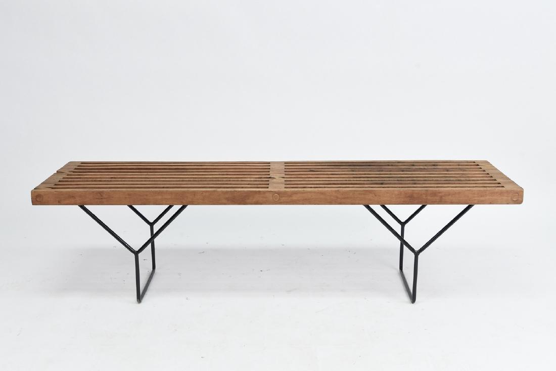 HARRY BERTOIA SLAT BENCH BY KNOLL