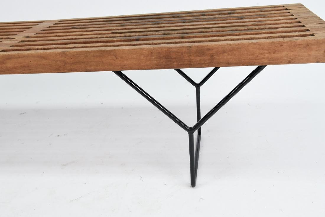 HARRY BERTOIA SLAT BENCH BY KNOLL - 5