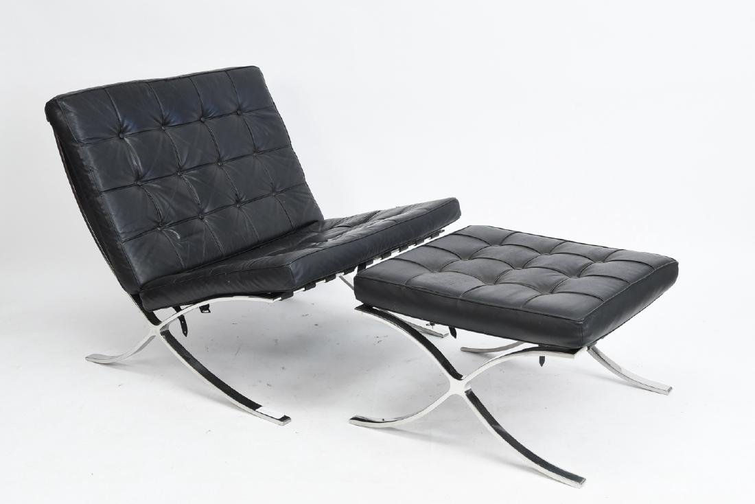 BARCELONA CHAIR AND OTTOMAN BY KNOLL