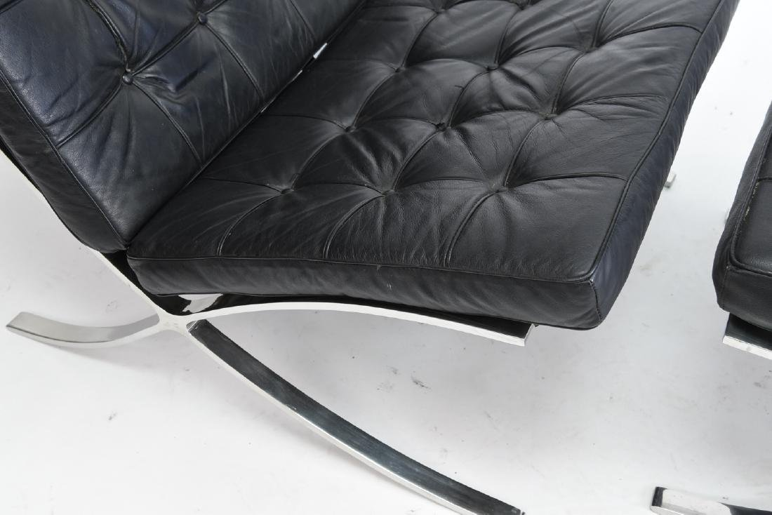BARCELONA CHAIR AND OTTOMAN BY KNOLL - 3