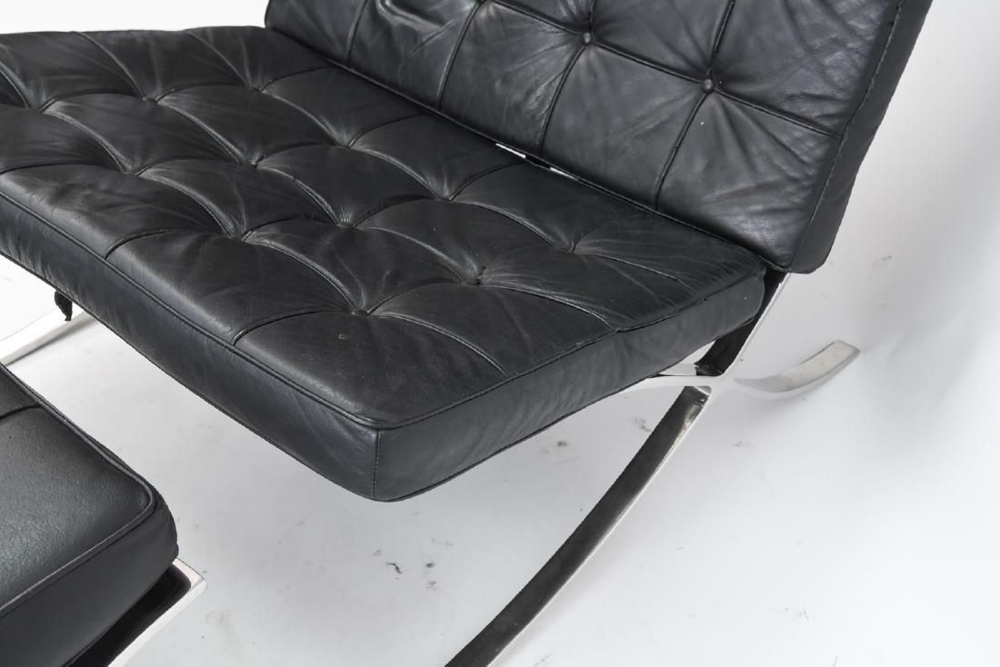 BARCELONA CHAIR AND OTTOMAN BY KNOLL - 6