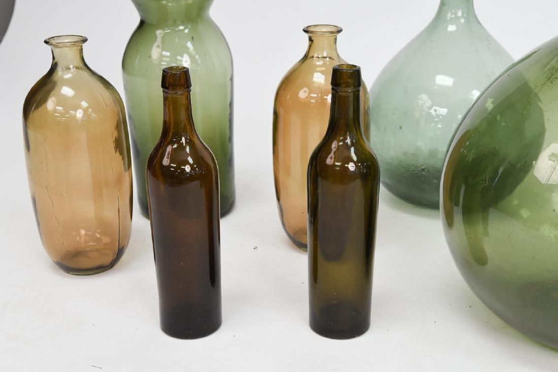 LARGE GLASS BOTTLE VASE GROUPING - 2