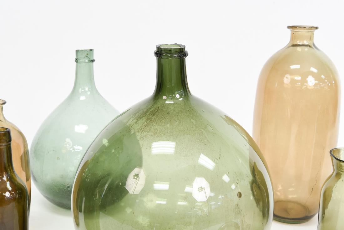 LARGE GLASS BOTTLE VASE GROUPING - 3