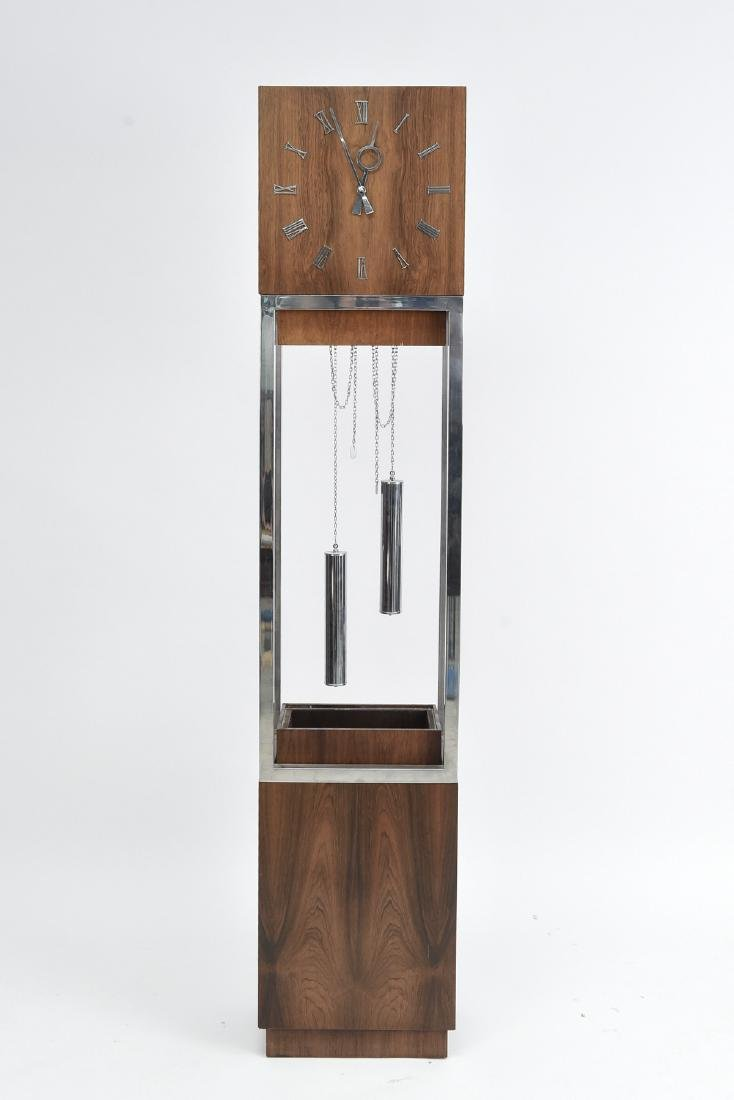 MID-CENTURY GRANDFATHER FLOOR CLOCK