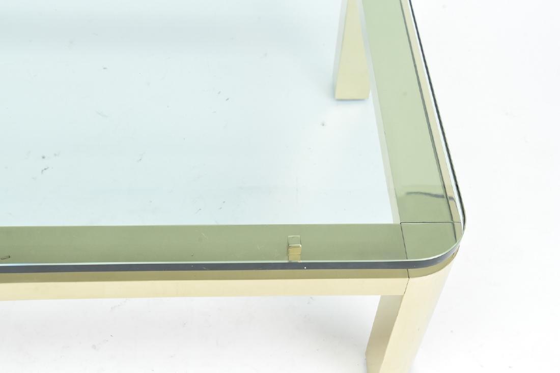 BRASS & GLASS TOP COFFEE TABLE - 2